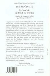 Monde Du Bout Du Monde (Le) - 4ème de couverture - Format classique