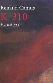 K. 310 ; journal 2000 - Intérieur - Format classique