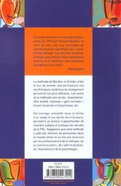 Les Secrets De La Communication ; Les Techniques De La Pnl - 4ème de couverture - Format classique