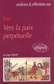 Kant Vers La Paix Perpetuelle - Intérieur - Format classique