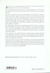 Les Mathematiques Et Le Reel - 4ème de couverture - Format classique