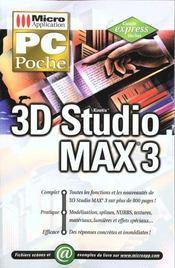 Pc poche 3d studio max 3 - Intérieur - Format classique