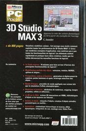 Pc poche 3d studio max 3 - 4ème de couverture - Format classique