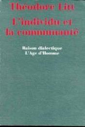 L'Individu Et La Communaute - Couverture - Format classique