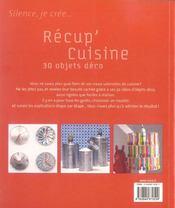 Récup'cuisine ; 30 objets déco - 4ème de couverture - Format classique