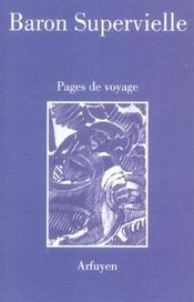 Vente  Pages de voyage  - Baron Superviel