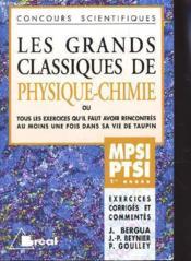 Grands classiques de physique chimie mpsi ptsi 1ere annee - Couverture - Format classique