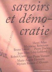 Savoirs Et Democratie - Intérieur - Format classique