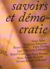 Savoirs Et Democratie - Couverture - Format classique
