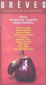 Revue Breves T.73 ; Duos Et Autres Couples Improbables - Intérieur - Format classique