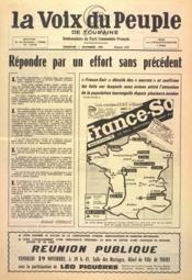 Voix Du Peuple De Touraine (La) N°1267 du 07/11/1965 - Couverture - Format classique