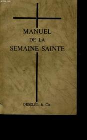 Manuel De La Semaine Sainte - Couverture - Format classique