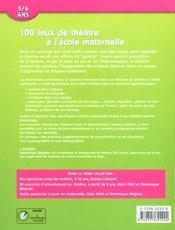 100 jeux de théâtre à l'école maternelle - 4ème de couverture - Format classique