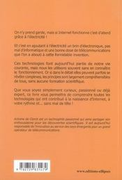Les dessous d'internet ; au fil de l'électricité, histoire de comprendre - 4ème de couverture - Format classique