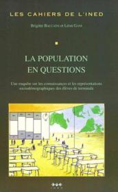 La population en question - Couverture - Format classique