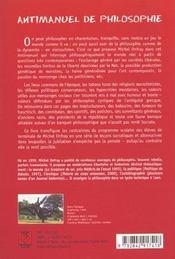 Antimanuel de philosophie - 4ème de couverture - Format classique