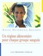 Regime Alimentaire Pour Chaque Groupe Sanguin (Un) - Intérieur - Format classique