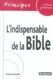 L'Indispensable De La Culture Generale : La Bible - Intérieur - Format classique