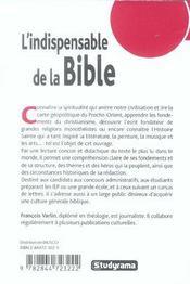 L'Indispensable De La Culture Generale : La Bible - 4ème de couverture - Format classique