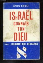 Ishrael Connais Ton Dieu - Couverture - Format classique