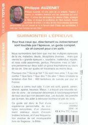 Guide Totus - Surmonter L' Epreuve - 4ème de couverture - Format classique