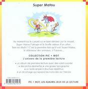 Super Matou - 4ème de couverture - Format classique