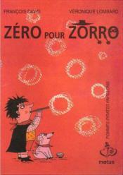 Zéro pour Zorro - Couverture - Format classique