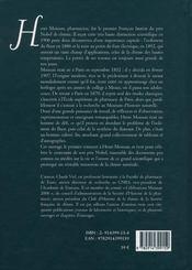 Henri moissan pharmacien, premier prix nobel de chimie - 4ème de couverture - Format classique