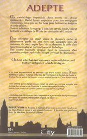 Adepte De Robert Finn - 4ème de couverture - Format classique