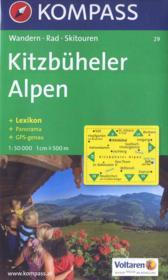 Kitzb heler alpen ; 1/50.000 ; n.29 - Couverture - Format classique