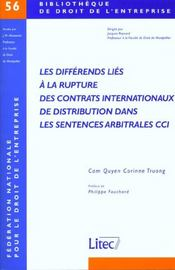 Vente livre :  Les Differents Lies A La Rupture Des Contrats Internationaux De Distribution Da  - Truong