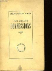 Confessions - Notes Autobiographiques - Couverture - Format classique