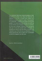 Elements De Morale - 4ème de couverture - Format classique