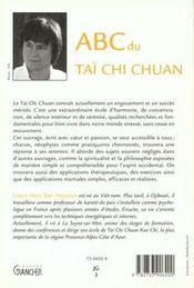 Abc du tai chi chuan - 4ème de couverture - Format classique
