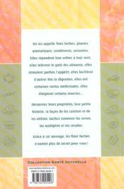 Les fines herbes ; cuisine et sante naturelle - 4ème de couverture - Format classique
