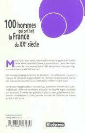 L'Indispensable De La France De 1850 A Nos Jours - 4ème de couverture - Format classique