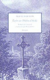 Ecrits Sur Therese D Avila - Intérieur - Format classique