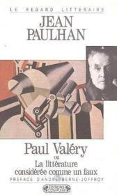 Paul valery ou la litterature - Couverture - Format classique