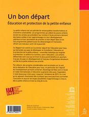Un bon départ ; éducation et protection de la petite enfance. rapport mondial 2007 - 4ème de couverture - Format classique