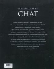 Le Grand Atlas Du Chat - 4ème de couverture - Format classique