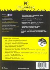 Pc reloaded ; tous les secrets pour booster son pc ! - 4ème de couverture - Format classique