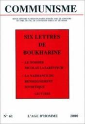 Revue Communisme N.61 ; Six Lettres De Boukharine - Couverture - Format classique