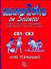 Champions En Sciences Ce / Guide Pedagogique (Cameroun) - Couverture - Format classique