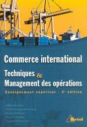 C.I./Tech. Et Managt.Des Operations - Intérieur - Format classique