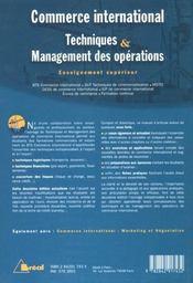 C.I./Tech. Et Managt.Des Operations - 4ème de couverture - Format classique