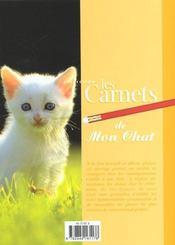 Les Carnets De Mon Chat - 4ème de couverture - Format classique