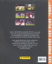 2005, Les Photos Les Plus Foot De L'Annee - 4ème de couverture - Format classique