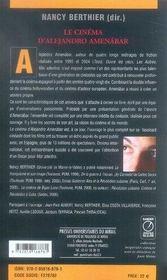Le cinéma d'alejandro amenabar - 4ème de couverture - Format classique