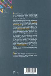 Le Calcul Economique En Sante. Methodes Et Analyses Critiques - 4ème de couverture - Format classique
