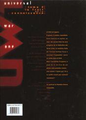 Universal war one t.2 ; le fruit de la connaissance - 4ème de couverture - Format classique